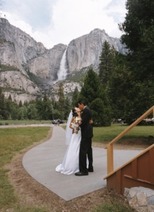 One of my favorite shots with Yosemite Falls behind us