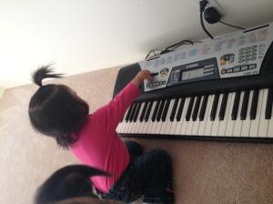 Honing her musical skills