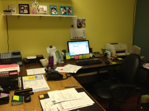 My office/desk area at Sanie
