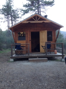 Our little cabin, which measured probably 10 x 10.