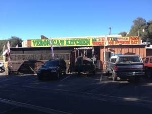 Veronica's Kitchen, delicious food we were recommended to visit. Located in the town Descanso.