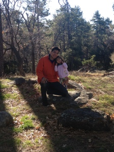 My husband and daughter on our last day at Cuyamaca Rancho State Park.